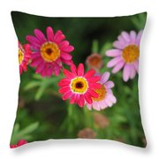 Garden Colors Throw Pillow