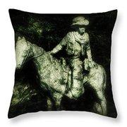 Garden Cowboy Throw Pillow
