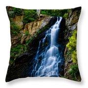 Garden Creek Falls Throw Pillow