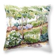 Garden, Dark Side Throw Pillow
