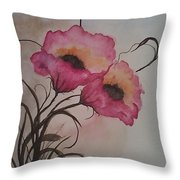 Garden Delight Throw Pillow by Ginny Youngblood
