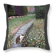 Garden Delights I Throw Pillow
