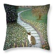 Garden Delights II Throw Pillow