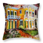 Garden District Home  Throw Pillow