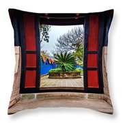 Garden Door Throw Pillow