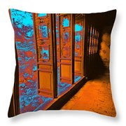 Garden Doorway Throw Pillow