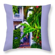 Garden Entrance Throw Pillow