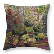 Garden Escape Throw Pillow