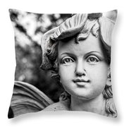 Garden Fairy - Bw Throw Pillow