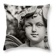 Garden Fairy - Sepia Throw Pillow