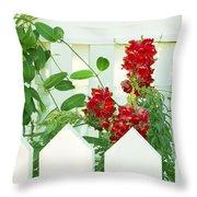 Garden Fence - Key West Throw Pillow