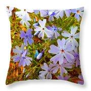 Flower Photography- Floral Art- Digital-floral Fireworks Throw Pillow