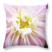 Garden Floral Art Pink Dahlia Flower Baslee Troutman Throw Pillow