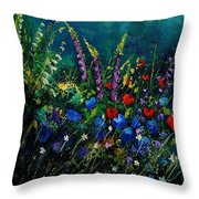 Garden Flowers 56 Throw Pillow