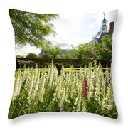 Garden Flowers At The Governor's Palace Throw Pillow