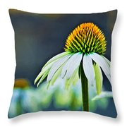 Bristle Flower Throw Pillow
