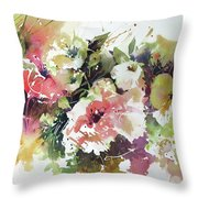 Garden Gaiety Throw Pillow