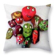 Garden Gang Throw Pillow