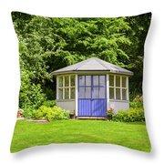 Garden Gazebo House Throw Pillow