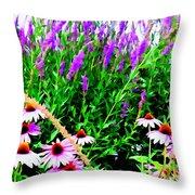 Garden Glory Throw Pillow