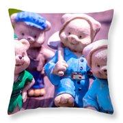 Garden Gnome 8 Throw Pillow