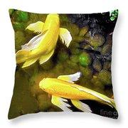 Garden Goldenfish Throw Pillow