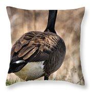 Garden Goose Throw Pillow