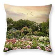 Garden Grace Throw Pillow