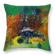 Garden Impressions  Throw Pillow
