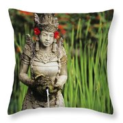 Garden In Bali Throw Pillow