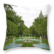 Italian Fountains Of The Garden Throw Pillow