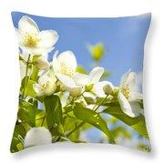 Garden Jasmin Throw Pillow