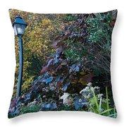 Garden Lamp Post Throw Pillow