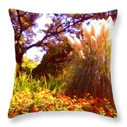 Garden Landscape Throw Pillow