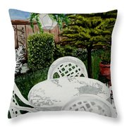 Garden Lights Throw Pillow