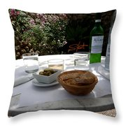 Garden Lunch Mallorca Throw Pillow
