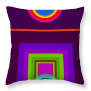 Garden Mauve Throw Pillow