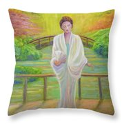 Garden Meditation Throw Pillow