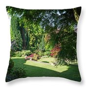 Garden Morning Throw Pillow
