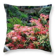 Garden Oasis Throw Pillow