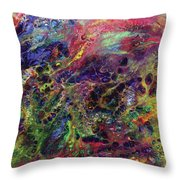 Garden Of Colorful Delight Throw Pillow