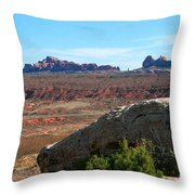 Garden Of Eden Rock Formations, Arches National Park, Moab Utah Throw Pillow
