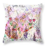 Garden Of Hope  Throw Pillow