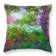 Garden Of Joy Throw Pillow