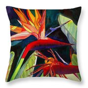 Garden Of Paradise Throw Pillow