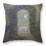 Garden Of Peace Throw Pillow