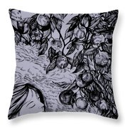 Garden Of Temptation Throw Pillow