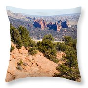 Garden Of The Gods And Springs West Side Throw Pillow