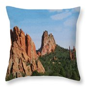 Garden Of The Gods Colorado De  Throw Pillow