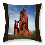 Garden Of The Gods Tower Formation Throw Pillow